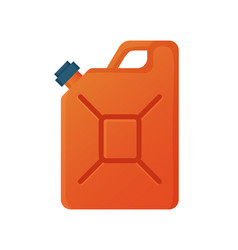 Gas canister red container for liquids vector