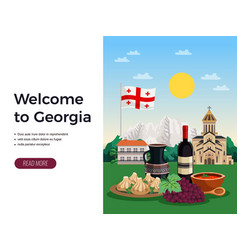 Georgia tourism flat design vector