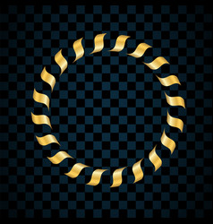 gold ring isolated on transparent black background vector image