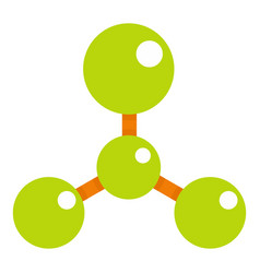 Green molecule structure dna icon isolated vector