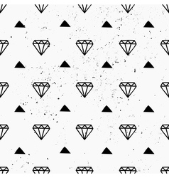 hand drawn diamonds abstract seamless pattern vector image
