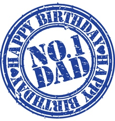 Happy birthday number 1 dad stamp vector image