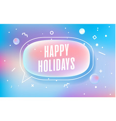 Happy holidays in design banner template vector