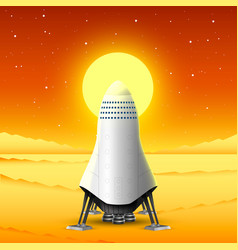 journey to mars missile launch vector image
