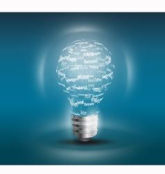 Lamp idea concept vector