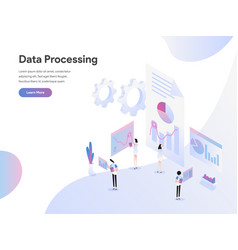landing page template data processing vector image