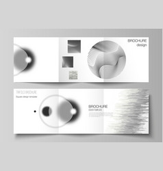 layout square format covers design vector image