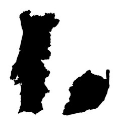 Map portugal and lisbon country and capital vector