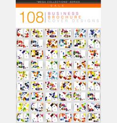 mega set of square geometrical business brochure vector image