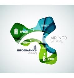 Modern fresh wave business infographics vector image