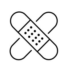 Monochrome simple medical plaster icon vector