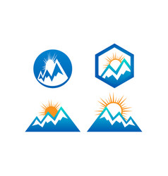 mountain nature logo design template vector image