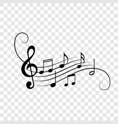 music notes staff icons background vector image