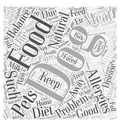 Natural balance dog food and allergies Word Cloud vector image