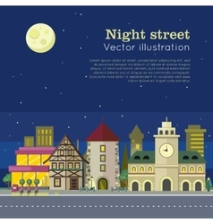 Night City Web Banner vector