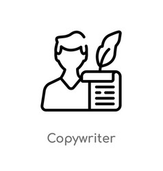 Outline copywriter icon isolated black simple vector