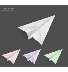paper planes vector image