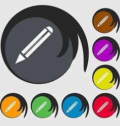 Pencil sign icon Edit content button Symbols on vector image