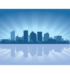 Phoenix arizona skyline vector