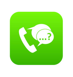 Phone sign and support speech bubbles icon digital vector