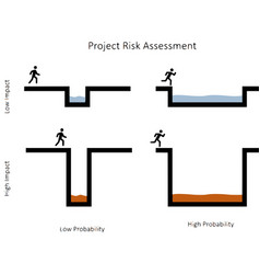 Project risk assessment vector