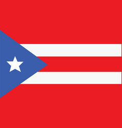 puerto rico flag for independence day and vector image