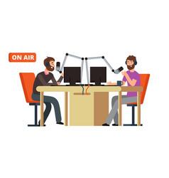 Radio show broadcasting dj talking vector