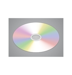 Realistic CD or DVD disk isolated vector