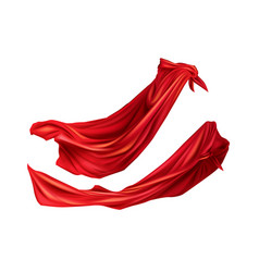 Red cloaks with hoods set silk flattering capes vector