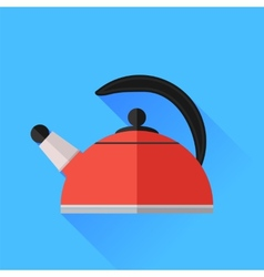 Red Kettle Icon vector image