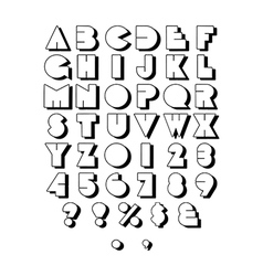 Retro Block Font Outline vector