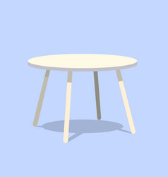 Round table for modern living room reception or vector