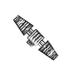 satellite icon image vector image