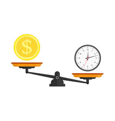 scale balance time is money vector image
