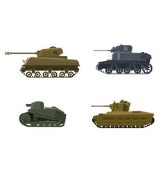 Set tank american german britain french world war vector