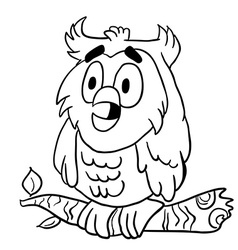 Simple black and white owl vector