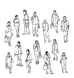Sketch of people vector