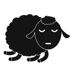 sleeping sheep icon simple style vector image