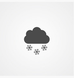 snowy icon sign symbol vector image