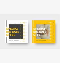 special offer square banner template with yellow vector image