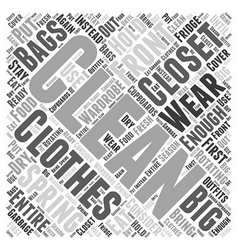 Spring cleaning for your closet word cloud concept vector