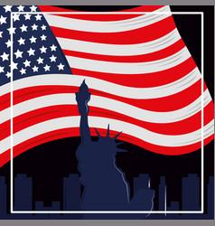 statue liberty america vector image