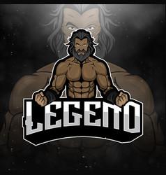 Strongman logo mascot esportsportetc vector