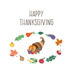 thanksgiving symbols set isolated vector image