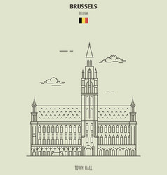 Town hall in brussels vector