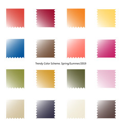 Trendy color scheme by gradient patches vector