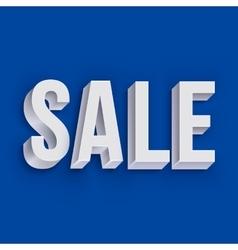 Volumetric white Sale lettering vector