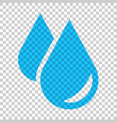 water drop icon in flat style raindrop on vector image