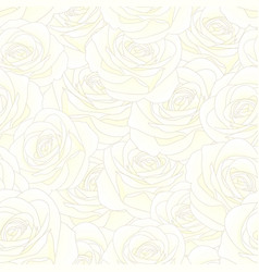 white rose seamless background vector image