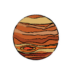 planet jupiter astronomy universe icon vector image